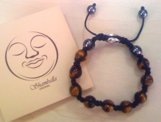 Bracelet Shamballa 'Tiger eye'. Site: 'Handmade manufacture of bracelets and beads from Nepal'