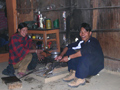Himalayas. The stove in a small house. Pictures of Himalaya