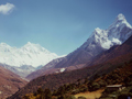 Himalayas. Mounts Everest and Ama Dablam. Pictures of Himalaya