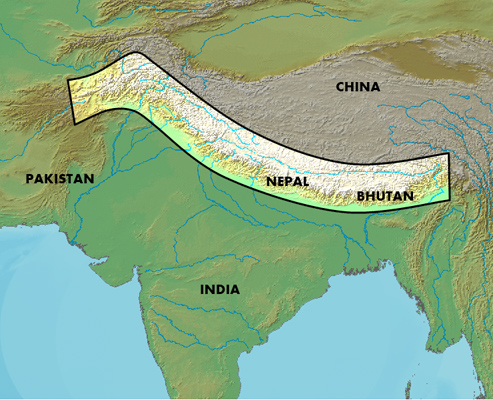 Himalayas Map India