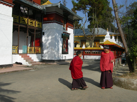 Sikkim. Monks. Pictures of Indian Himalaya